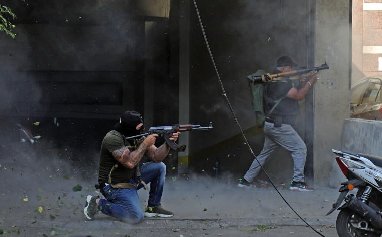 Caos en el corazón de Beirut (Foto: IBRAHIM AMRO / AFP a través de Getty Images)