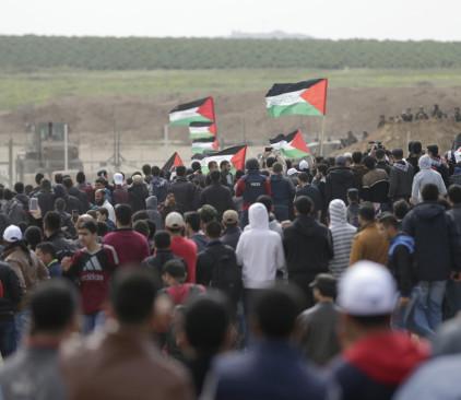הפגנה בגבול רצועת עזה