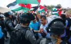 מפגינים פלסטינים בחאן אל-אחמר