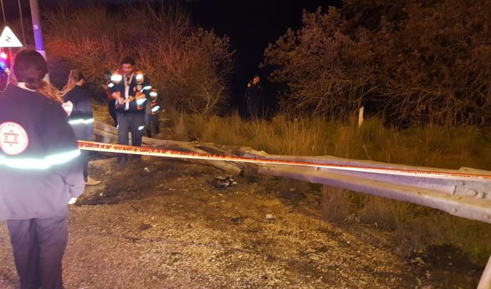 זירת התאונה בכביש 7513