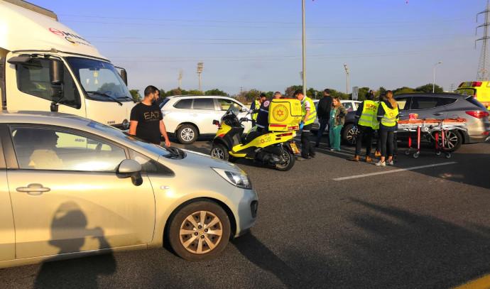 זירת התאונה בכביש 431