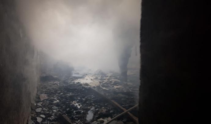זירת אירוע השריפה בצפת
