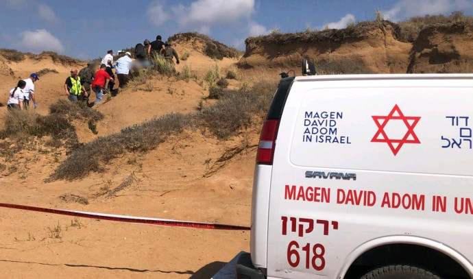 זירת התאונה סמוך לארסוף