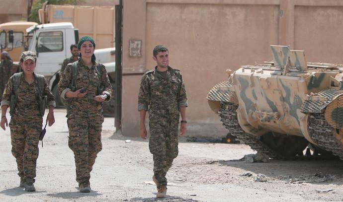 לוחמי המיליציה הכורדית בצפון סוריה
