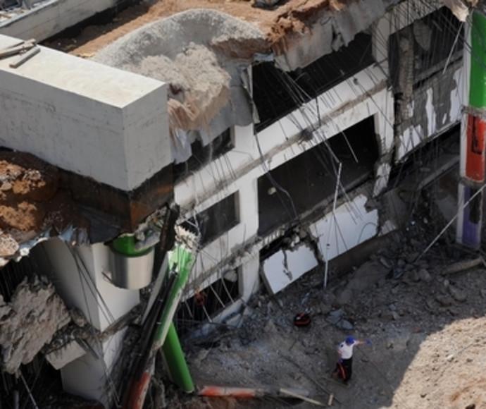 החניון שקרס בתל אביב