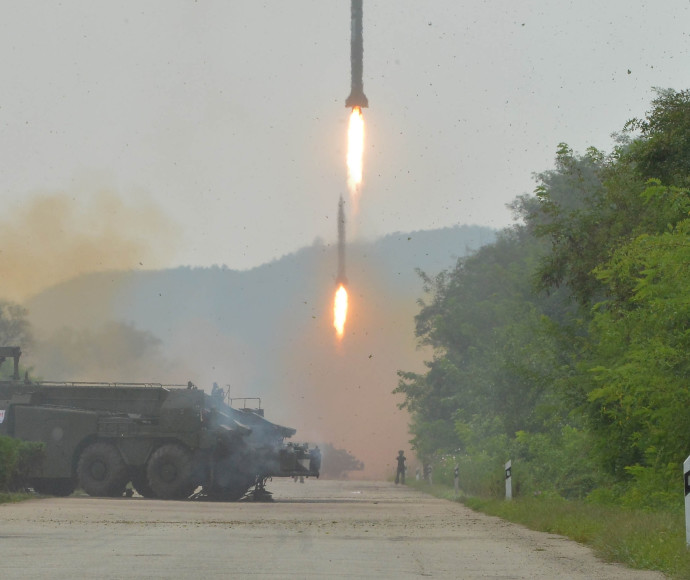 ניסוי טילים בקוריאה הצפונית (ארכיון)