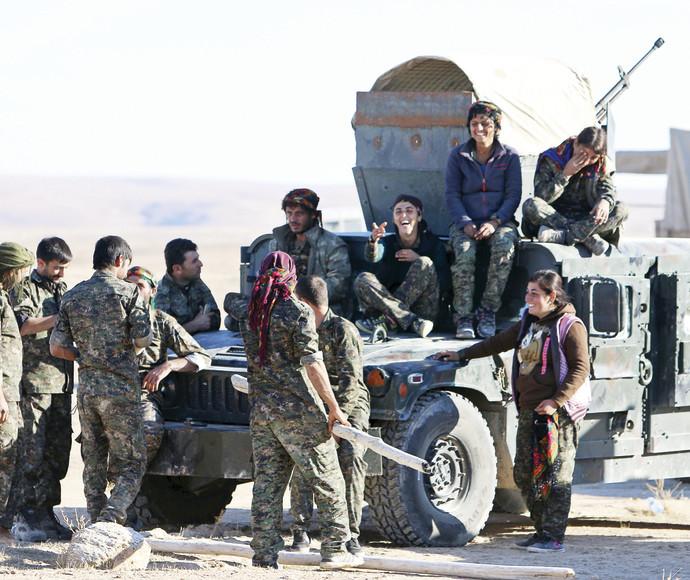 לוחמים כורדים בסוריה