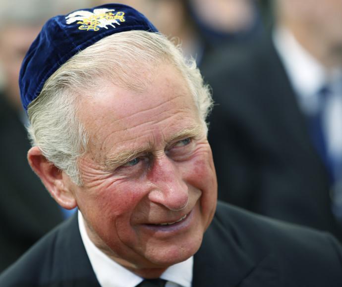 הנסיך צ'ארלס בהלוויתו של שמעון פרס