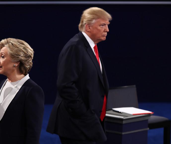 הילרי קלינטון ודונלד טראמפ