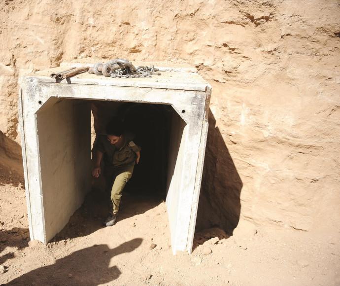 פתח מנהרה של חמאס בעזה
