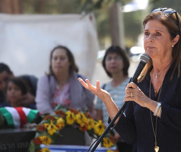 דליה רבין בטקס האזכרה