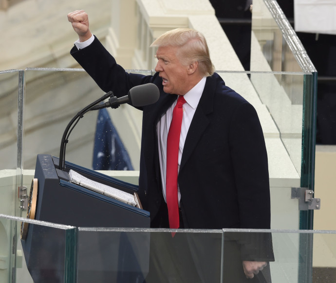 טראמפ בנאום ההשבעה