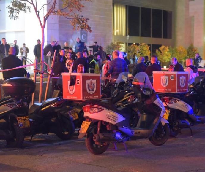 זירת החיסול הכפול בתל אביב