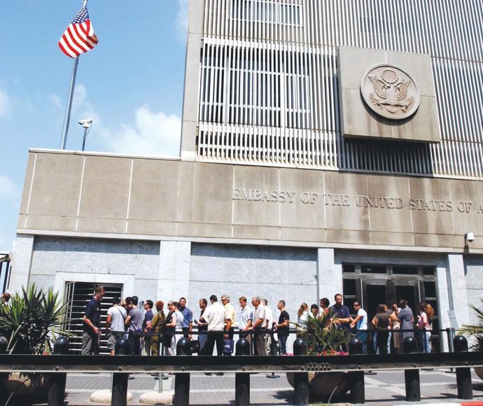 """שגרירות ארה""""ב בתל אביב"""