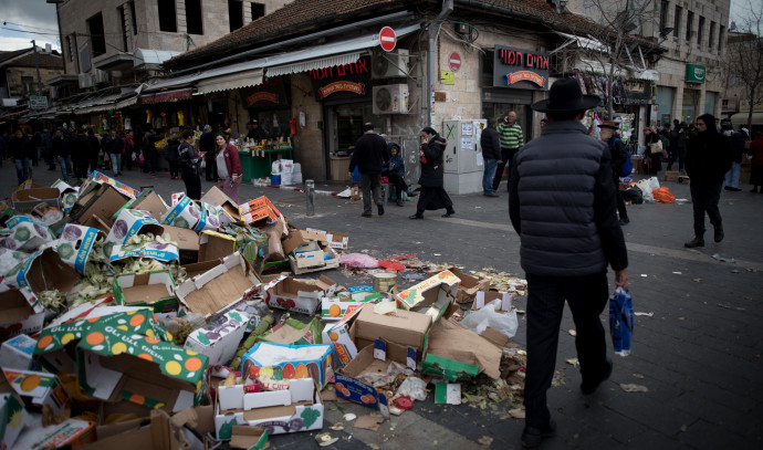 זבל ברחובות ירושלים