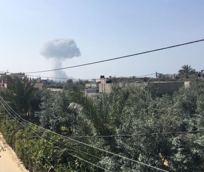 """הפצצת צה""""ל ברצועת עזה, לפי דיווחים פלסטינים"""