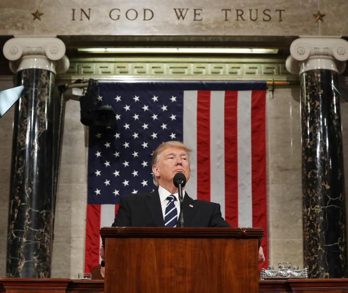 דונלד טראמפ נואם לקונגרס
