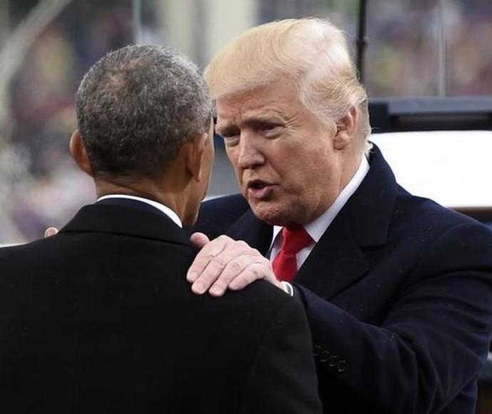 דונלד טראמפ וברק אובמה