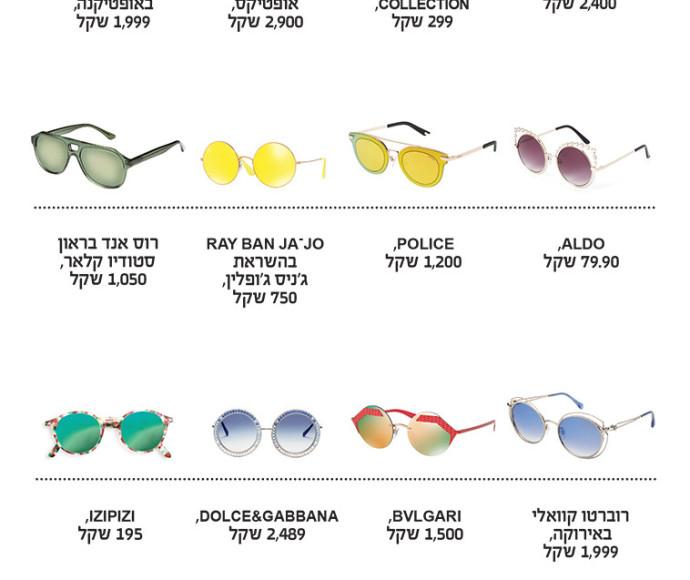 משקפי שמש, אופנה