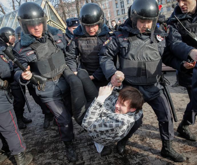 הפגנה נגד הנשיא פוטין, רוסיה