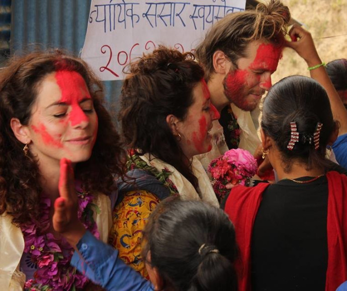 מתנדבים ישראלים בנפאל