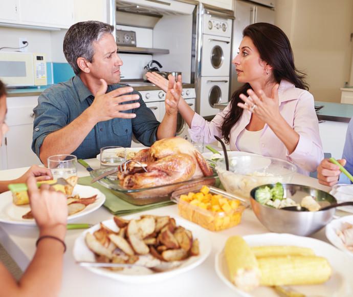 ריב בארוחה משפחתית, אילוסטרציה