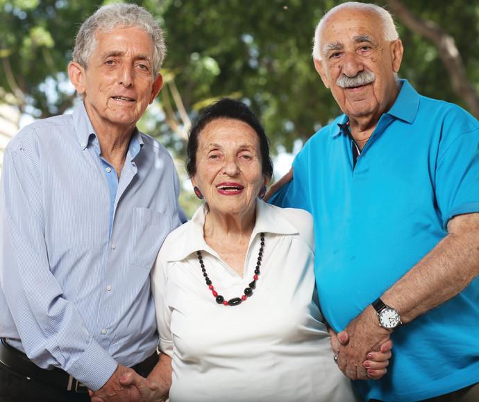 קורט שטרן (מימין), עליזה טננבאום, פול אלכסנדר