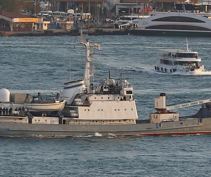 ספינת הביון הרוסית שטבעה בבוספורוס