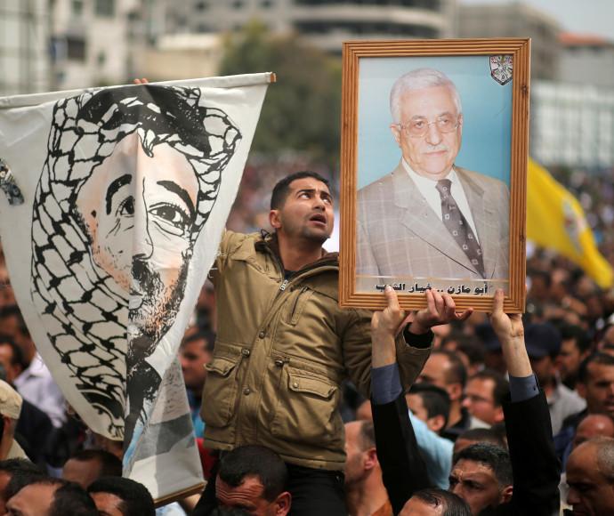 הפגנה נגד הקפאת המשכורות שיזם אבו מאזן