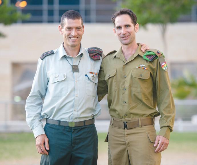 """רס""""ן ג'ואי כהן (מימין) ואל""""מ עמית פישר (משמאל)"""