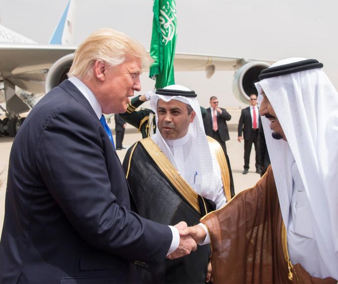 המלך סלמאן והנשיא טראמפ, ערב הסעודית