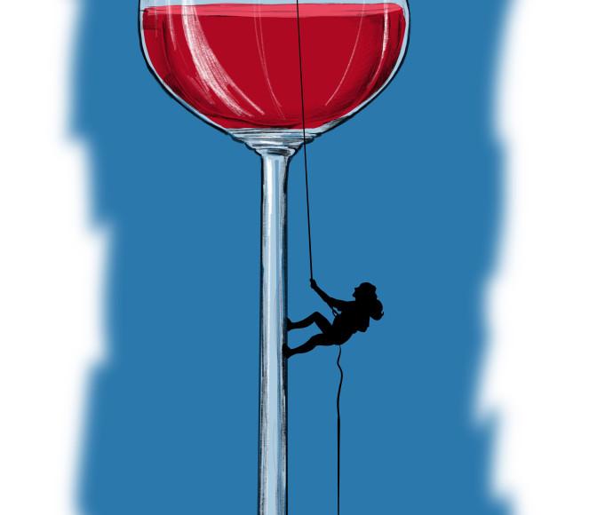 כוס יין, איור: אורי פינק