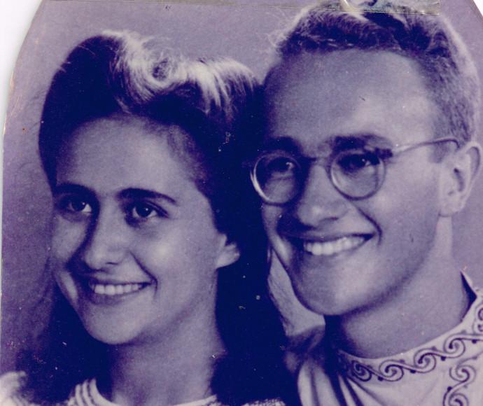 חנה ואמנון ביום חתונתם