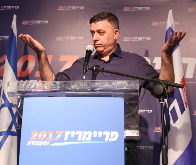 אבי גבאי בנאום הניצחון