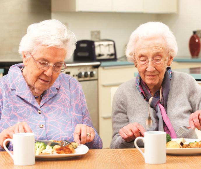 קשישות אוכלות