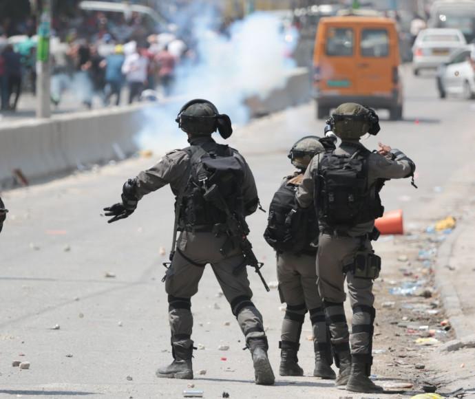 """כוחות מג""""ב בעימותים בירושלים"""
