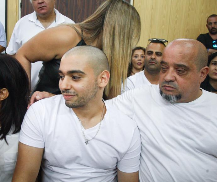 אלאור אזריה עם משפחתו