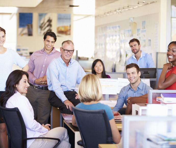 עובדים מאושרים במשרד, אילוסטרציה