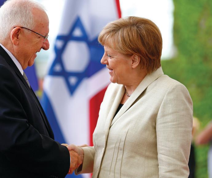 הנשיא ראובן ריבלין וקאנצלרית גרמניה אנגלה מרקל