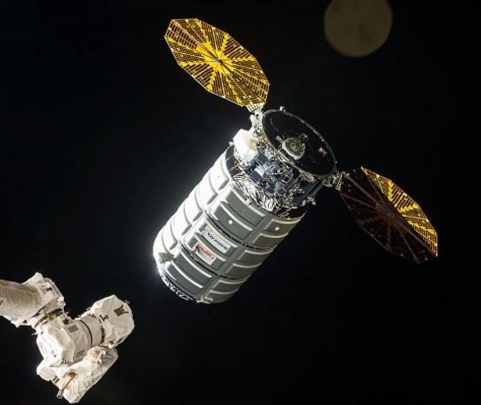 חללית המטען שעליה מעבדת החלל הישראלית  בדרך לתחנת החלל הבינלאומית