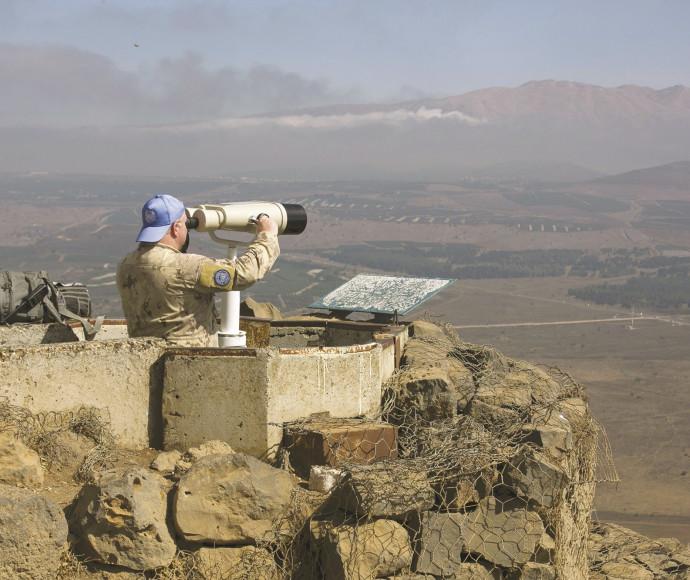 """עמדת או""""ם בגבול ישראל־סוריה"""