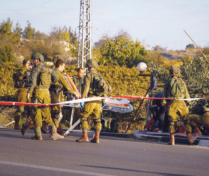 זירת הפיגוע בגוש עציון