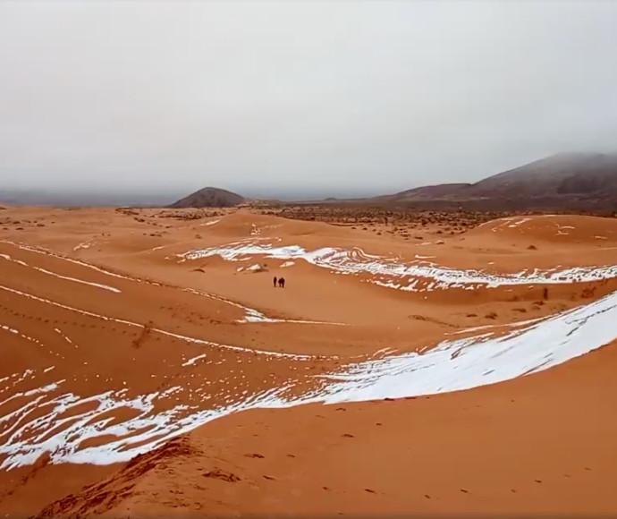 שלג במדבר סהרה