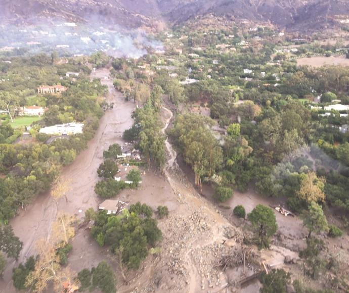 שיטפון בוץ בדרום קליפורניה