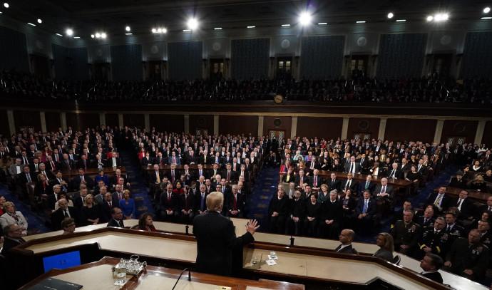 טראמפ נואם בפני חברי הקונגרס
