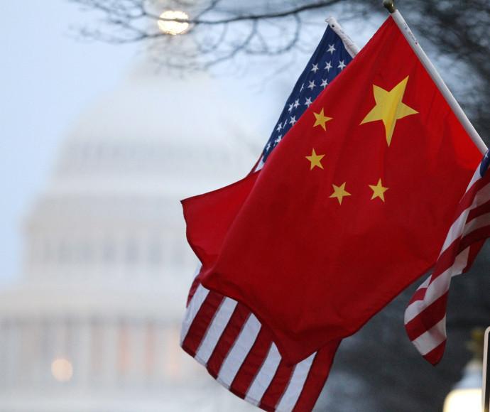 """דגלי סין וארה""""ב"""