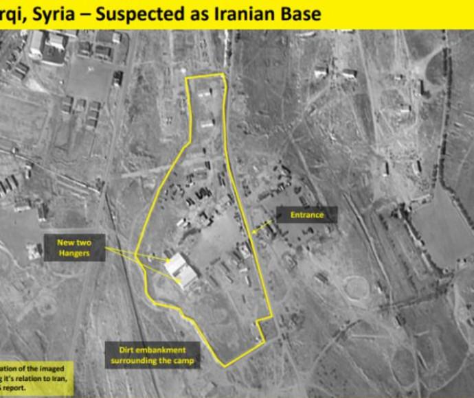 תמונות הלוויין של הבסיס האיראני