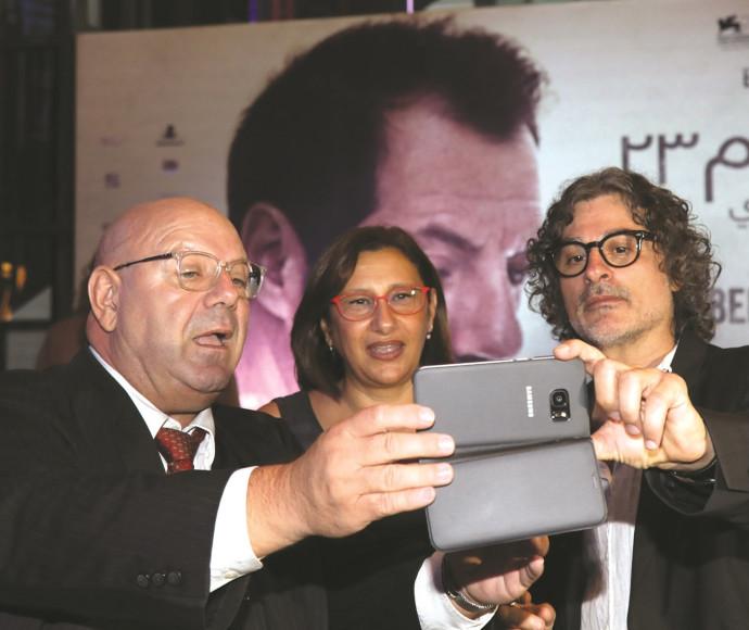 זיהאד דוויירי בהקרנת הבכורה של סרטו בביירות