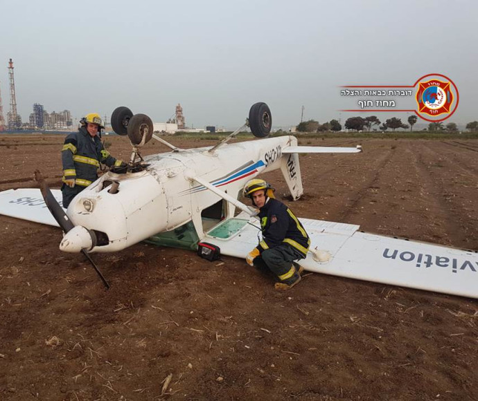 המטוס הקל שהתרסק סמוך ליגור