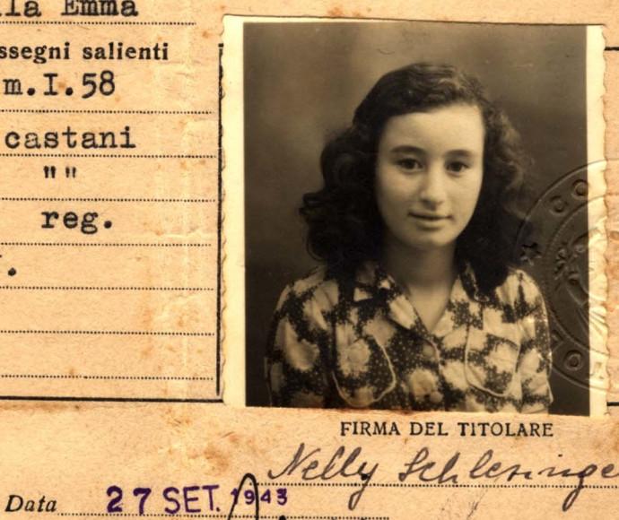 תעודת הזהות של נלי בתקופת וילה אמה, הוצאה בידי עיריית נוננטולה, ספטמבר 1943